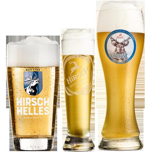 Hirsch Biergläser